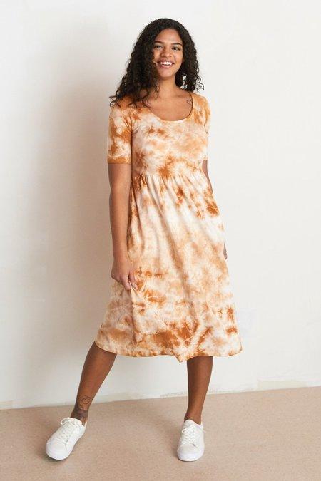 North Of West Flora Dress - Amber Tie Dye