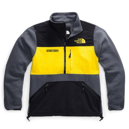 THE NORTH FACE Steep Tech Half Zip Fleece sweater - VANADIS GREY/TNF BLACK/LIGHTNING YELLOW