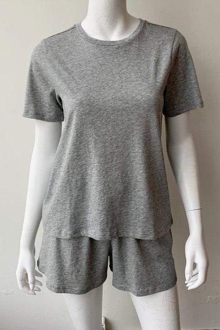 Skin Cady Tee and Short Set sleepwear - Heather Grey