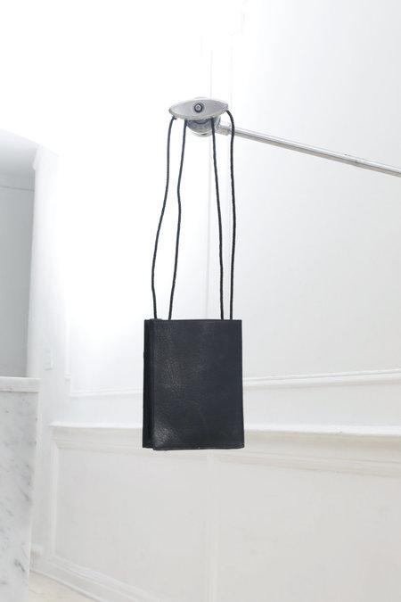 Collina Strada Square Bag Black Leather