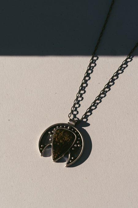 Acid Queen Jewelry Voyager Moon Pendant Necklace with Bronzite