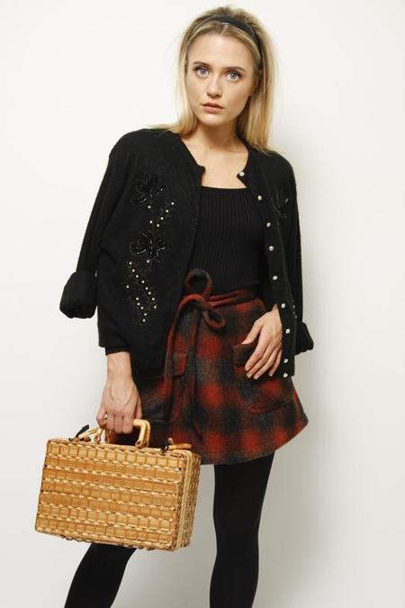 Cloak & Dagger Birkin Mini Skirt - Rust Plaid