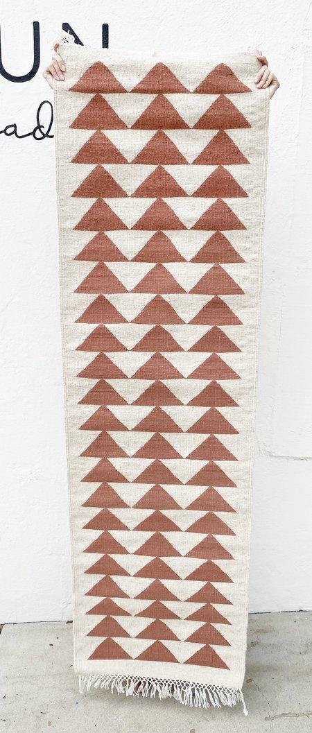 Eclectik Triangle Runner Rug - Pink