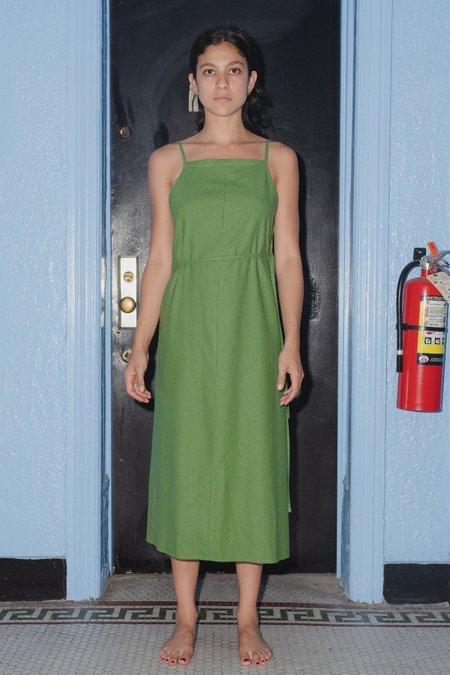 Baserange Yumi Apron Dress - Sun Moss Green