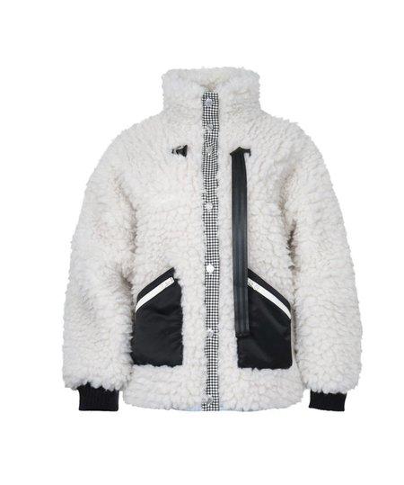 Sandy Liang Seven Fleece Jacket - Cloud