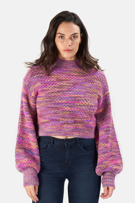 For Love & Lemons Kara Sweater - Magenta