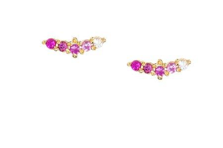 Ruta Reifen Woosh Studs - Pink Sapphires