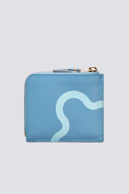 Comme des Garçons SA3100RE Leather Ruby Eyes Wallet - Blue