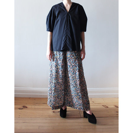 Studio Nicholson Kujo Convex Sleeve Top - Black