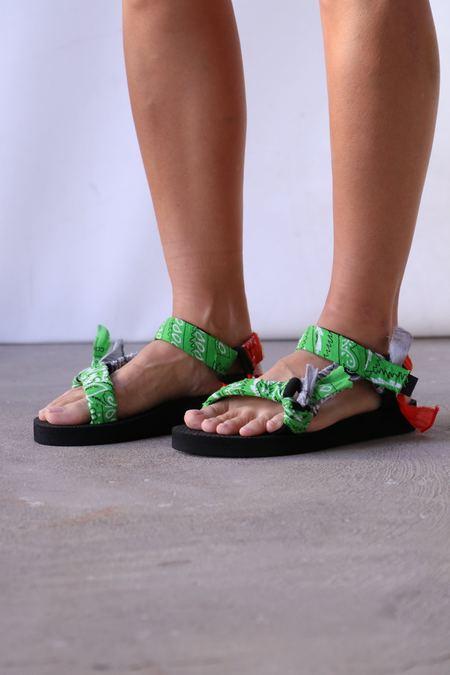 Arizona Love Trekky Mix Bandana Sandals - Green