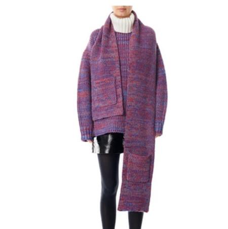 Tibi Tweedy Sweater Scarf