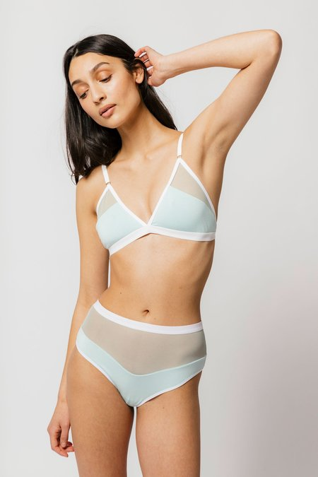 Logan High Cut Bikini in Mint Sample