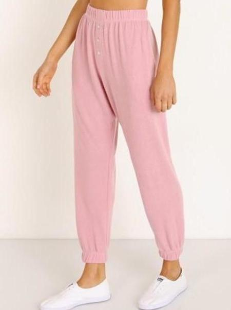 Donni. Sweater Sweatpants - Rose