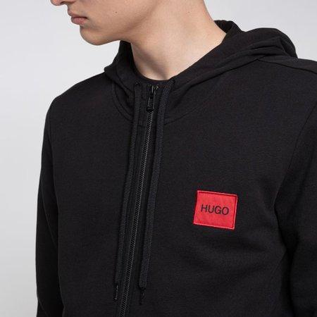 Hugo Boss Daple204 Red Box Zip Through Hoody Sweater - Black
