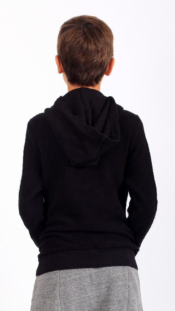 Puffy Pullover Hoodie - Black