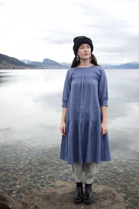 Beaton Linen June Dress - Cornflower