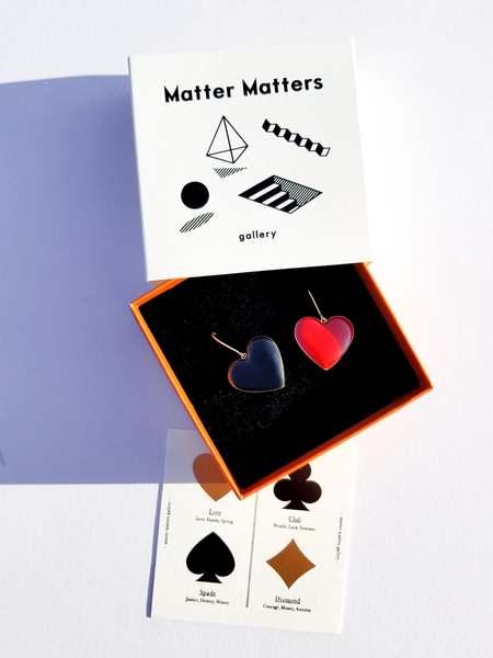 Matter Matters Love  Earrings - Black/Maroon