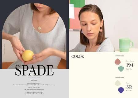 Matter Matters Spade Earrings - Pastel