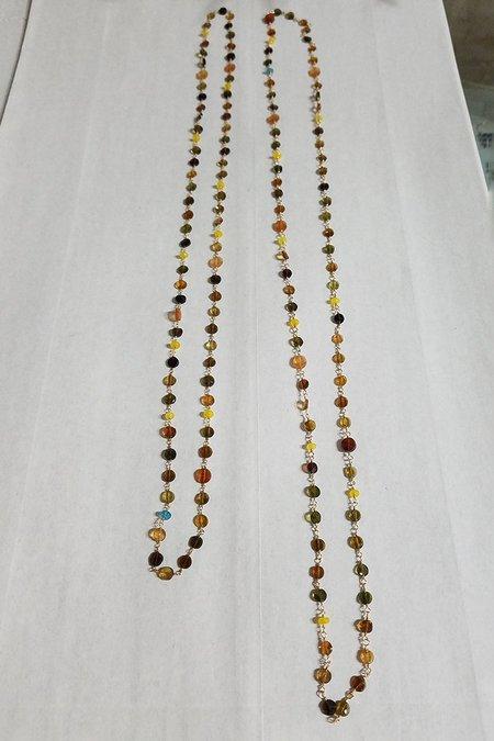 Cobamae Ombre Tourmaline Rosary Necklace