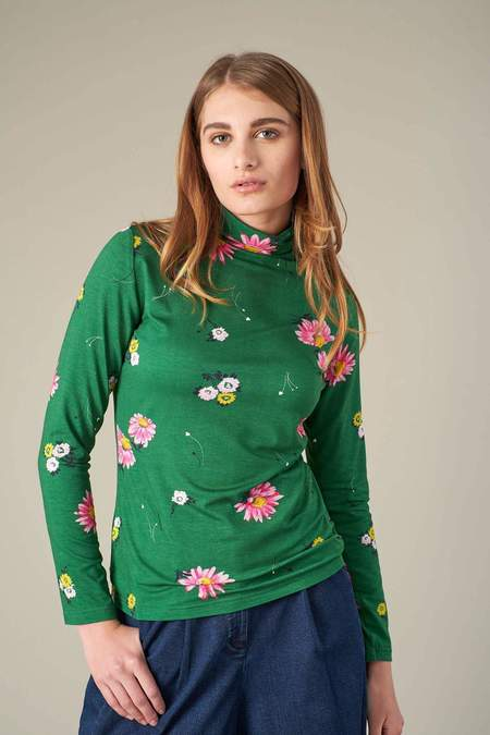 Emily and Fin Floral Top - Green