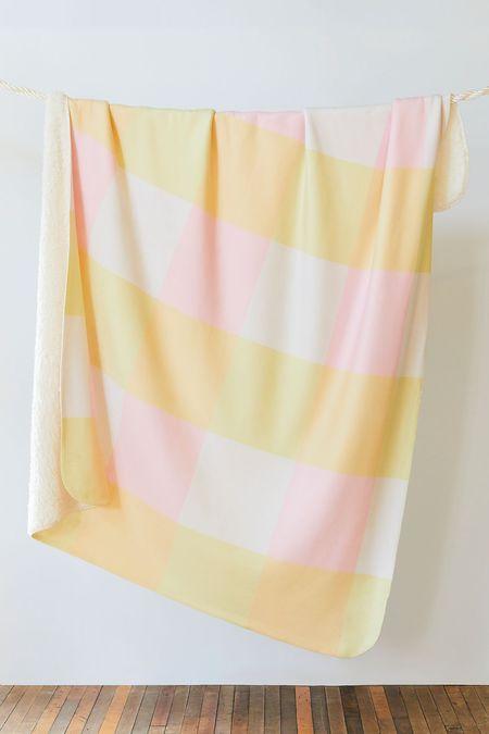 Ri-Ri-Ku PASTEL COWGIRL BLANKET - yellow/cream/pink