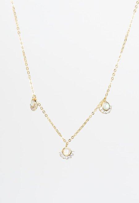 Nicole Kwon Concept Store 3 Opal Pendant Necklace - 14k Gold Vermeil