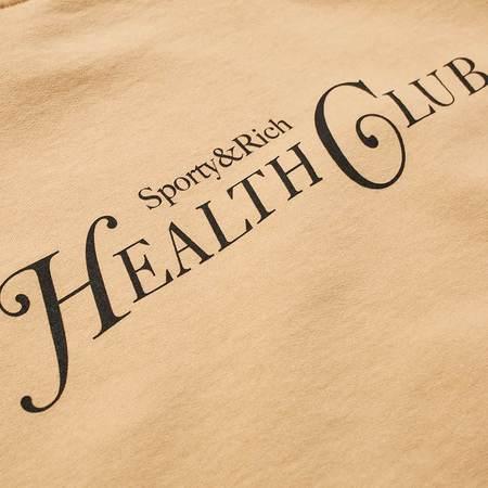 Sporty & Rich Health Club Crewneck - Camel