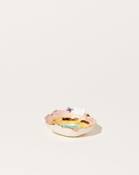 Minh Singer Mini Prism Dish with Gold Ripples