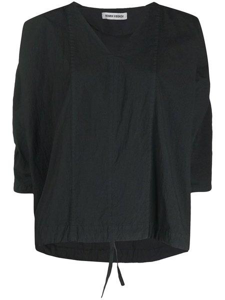 Henrik Vibskov  Garment Dye Minute Blouse - Black