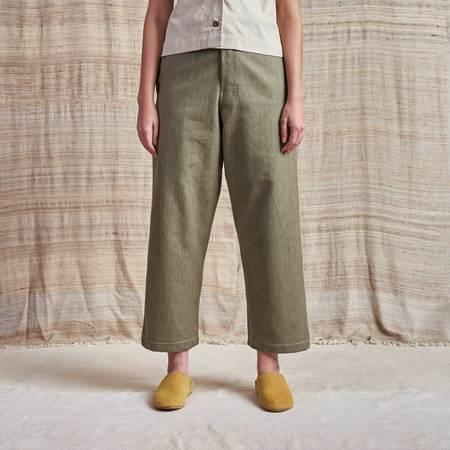 Story Mfg British Selvedge Organic Denim Jeans - Khaki Green