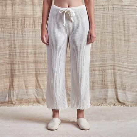 Piper Dalton Undyed Ribbed Linen Lounge Pants