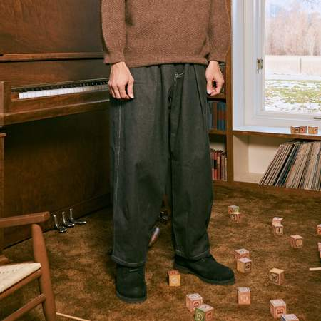 Unisex Story Mfg Lush Organic Selvedge Denim Jeans - Iron Black