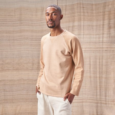Harvest & Mill  French Terry Raglan Sweatshirt - Two-Tone Colorganic® Brown