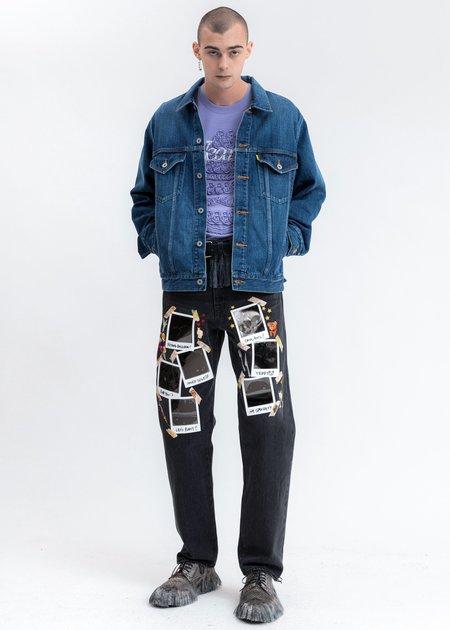 Doublet Memorial Polaroid Denim Pants - black