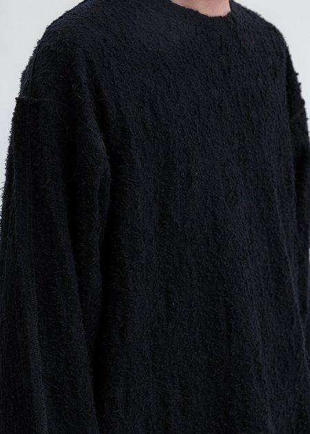 Faineant Jacquard Crewneck Sweater - Black