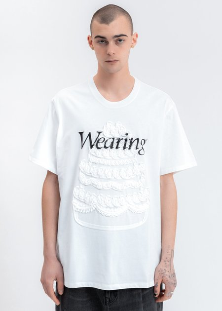 Doublet Cake Embroidery T-Shirt - White