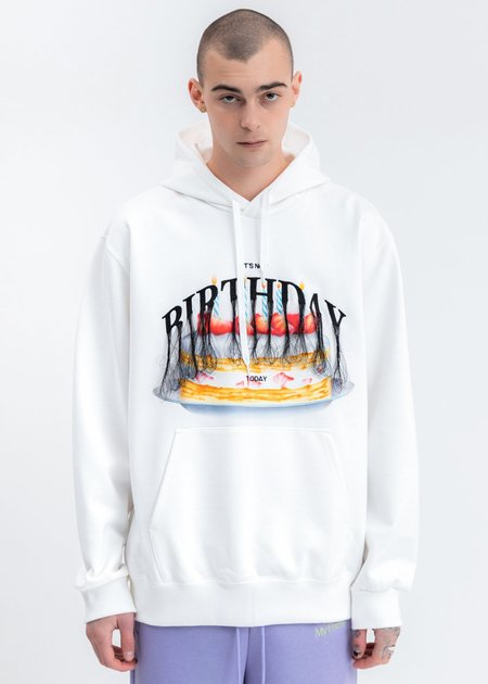 Doublet Not Birthday Embroidery Hoodie - White