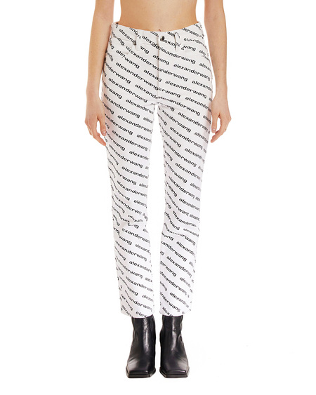 Alexander Wang Flared Pants with Print - Black/White