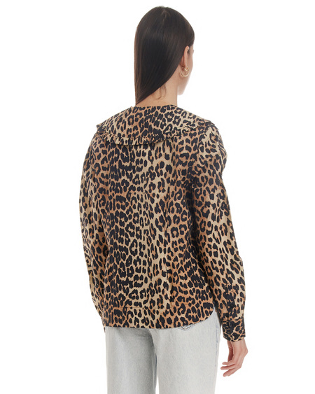 Ganni Shirt with Animalier Print - Multicolor