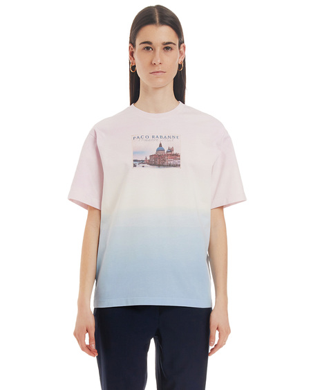 Paco Rabanne Print T-shirt - blue