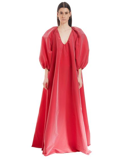 BERNADETTE Loose V-neck Dress - Red