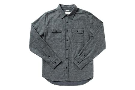 Bridge & Burn Cole Shirt - Charcoal Herringbone