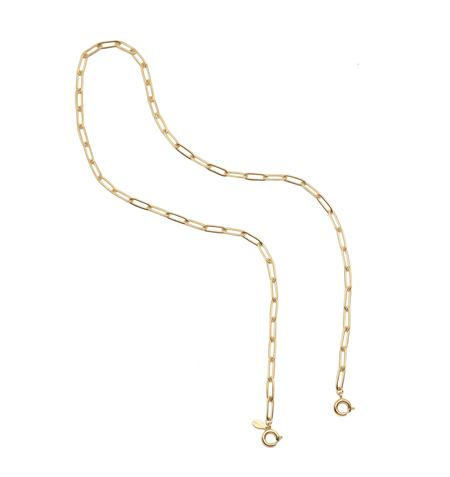CUCHARA Large Link Mask Chain Necklace - Gold