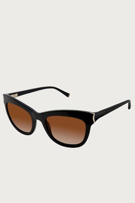Kate Young for Tura Scarlett Polizared Sunglasses -Black