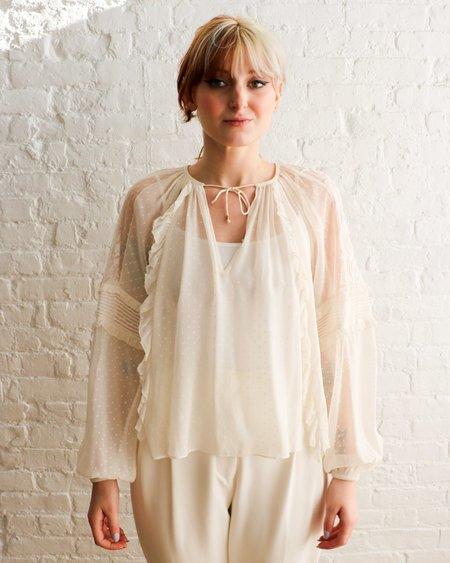 [Pre-loved] Ulla Johnson Sheer Silk Blouse