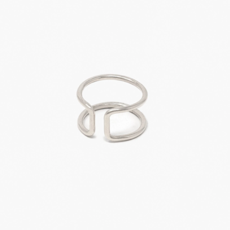 ABLE New Cuff Ring - Silver