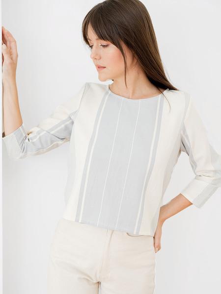 Laude The Label Long Sleeve Tee - Modern Stripe
