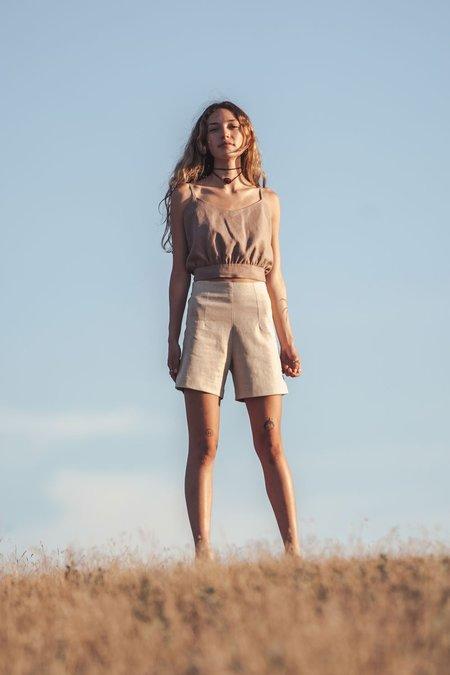 Arraei Collective Acacia Shorts - Stone