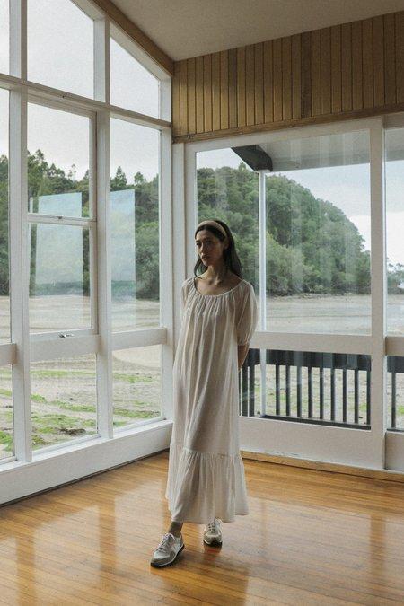 OVNA OVICH Honour Dress - Ice White Tencel