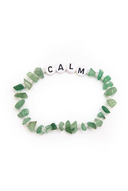 TBalance Calm Aventurine Crystal Healing Bracelet - Green